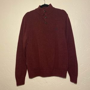 Chaps mens burgundy pullover, size large